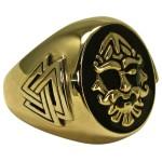 Odin Large Bronze Valknut Signet Ring
