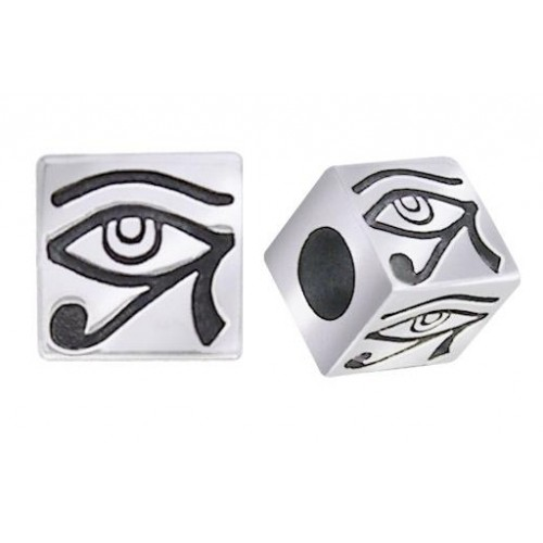 Eye of Horus Square Bead at Jewelry Gem Shop,  Sterling Silver Jewerly   Gemstone Jewelry   Unique Jewelry