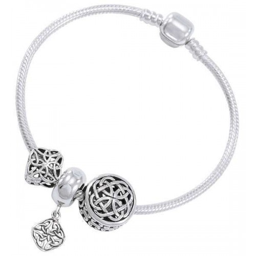 Celtic Knot Sterling Silver Bead Bracelet at Jewelry Gem Shop,  Sterling Silver Jewerly | Gemstone Jewelry | Unique Jewelry