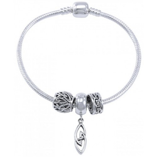 Celtic Knotwork Sterling Silver Bead Bracelet at Jewelry Gem Shop,  Sterling Silver Jewerly | Gemstone Jewelry | Unique Jewelry