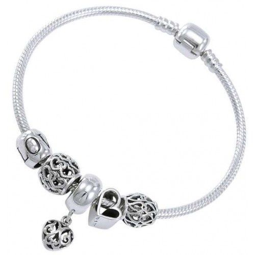 Hearts of Love Sterling Silver Bead Bracelet at Jewelry Gem Shop,  Sterling Silver Jewerly | Gemstone Jewelry | Unique Jewelry