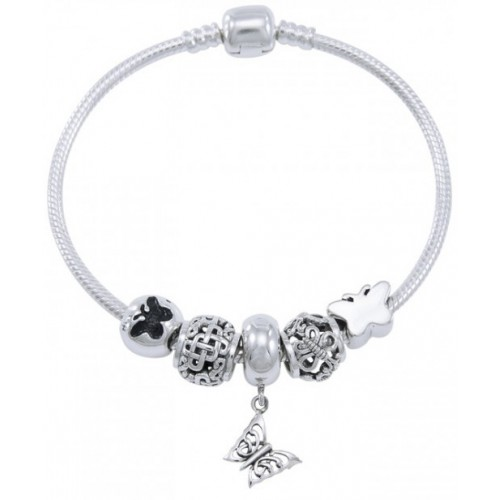 Butterfly Sterling Silver Bead Bracelet at Jewelry Gem Shop,  Sterling Silver Jewerly | Gemstone Jewelry | Unique Jewelry