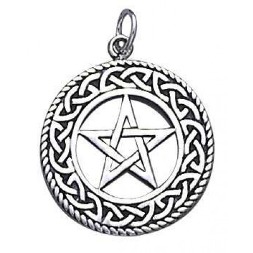 Celtic Border Pentacle Sterling Silver Pendant at Jewelry Gem Shop,  Sterling Silver Jewerly | Gemstone Jewelry | Unique Jewelry