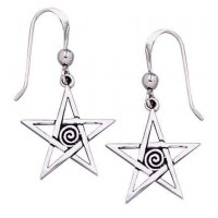 Spiral Pentacle Earrings
