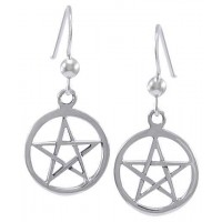 Sterling Silver Pentacle Earrings