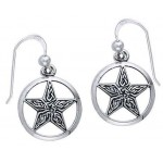 Celtic Knot Pentacle Earrings at Jewelry Gem Shop,  Sterling Silver Jewerly | Gemstone Jewelry | Unique Jewelry