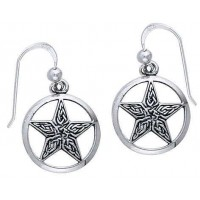 Celtic Knot Pentacle Earrings Jewelry Gem Shop  Sterling Silver Jewerly | Gemstone Jewelry | Unique Jewelry