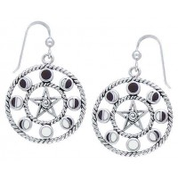 Magick Moon Phases Earrings in Sterling Silver