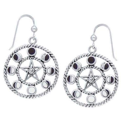 Magick Moon Phases Earrings in Sterling Silver at Jewelry Gem Shop,  Sterling Silver Jewerly | Gemstone Jewelry | Unique Jewelry
