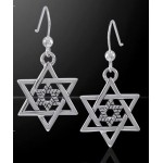 Double Star of David Sterling Silver Earrings at Jewelry Gem Shop,  Sterling Silver Jewerly | Gemstone Jewelry | Unique Jewelry