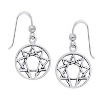 Enneagram Sterling Silver Earrings