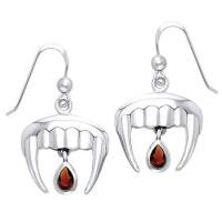Vampire Teeth Sterling Silver Blood Drop Earrings Jewelry Gem Shop  Sterling Silver Jewerly | Gemstone Jewelry | Unique Jewelry