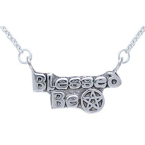 Blessed Be Pentacle Sterling Silver Necklace at Jewelry Gem Shop,  Sterling Silver Jewerly | Gemstone Jewelry | Unique Jewelry