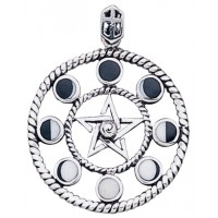 Magick Moon Phases Pendant in Sterling Silver Jewelry Gem Shop  Sterling Silver Jewerly | Gemstone Jewelry | Unique Jewelry