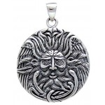 Belenos Sun God Disk Pendant in Sterling Silver at Jewelry Gem Shop,  Sterling Silver Jewerly | Gemstone Jewelry | Unique Jewelry