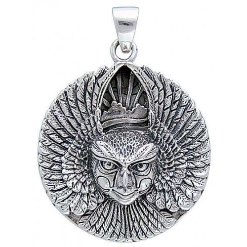 Ariel Bird Goddess Disk Pendant in Sterling Silver at Jewelry Gem Shop,  Sterling Silver Jewerly | Gemstone Jewelry | Unique Jewelry