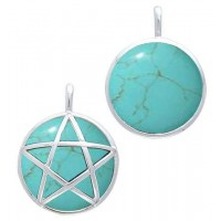 Hidden Pentacle Turquoise and Sterling Silver Pendant Jewelry Gem Shop  Sterling Silver Jewerly | Gemstone Jewelry | Unique Jewelry