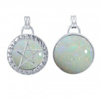 Theban Hidden Pentacle Opal Pentagram Pendant Jewelry Gem Shop  Sterling Silver Jewerly | Gemstone Jewelry | Unique Jewelry