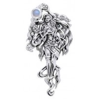 Moon Goddess Sterling Pendant Jewelry Gem Shop  Sterling Silver Jewerly | Gemstone Jewelry | Unique Jewelry