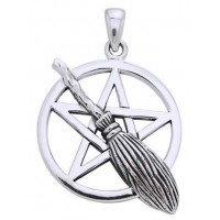 Broom Pentacle Pendant in Sterling Silver Jewelry Gem Shop  Sterling Silver Jewerly | Gemstone Jewelry | Unique Jewelry