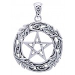 Celtic Oak Leaf Pentacle Sterling Silver Pendant at Jewelry Gem Shop,  Sterling Silver Jewerly | Gemstone Jewelry | Unique Jewelry