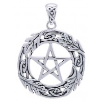 Celtic Oak Leaf Pentacle Sterling Silver Pendant Jewelry Gem Shop  Sterling Silver Jewerly | Gemstone Jewelry | Unique Jewelry