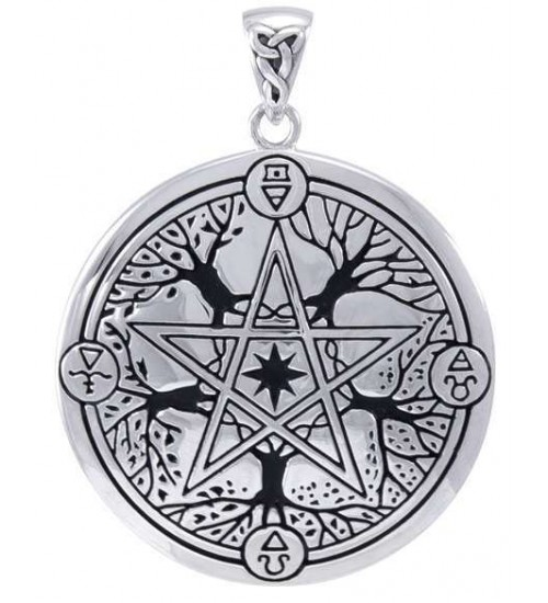Elemental Seasons Witches Pentacle Pendant at Jewelry Gem Shop,  Sterling Silver Jewerly | Gemstone Jewelry | Unique Jewelry