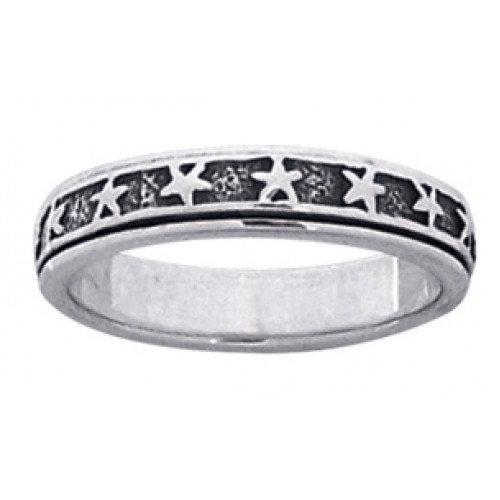 Star Sterling Silver Fidget  Spinner Ring at Jewelry Gem Shop,  Sterling Silver Jewerly | Gemstone Jewelry | Unique Jewelry