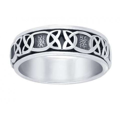 Celtic Knot Band Sterling Silver Fidget Spinner Ring at Jewelry Gem Shop,  Sterling Silver Jewerly | Gemstone Jewelry | Unique Jewelry
