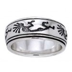 Kokopelli Sterling Silver Fidget  Spinner Ring at Jewelry Gem Shop,  Sterling Silver Jewerly | Gemstone Jewelry | Unique Jewelry
