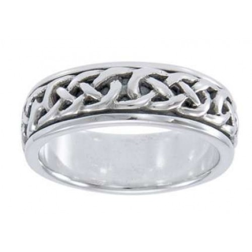 Celtic Knotwork Sterling Silver Fidget Spinner Ring at Jewelry Gem Shop,  Sterling Silver Jewerly | Gemstone Jewelry | Unique Jewelry
