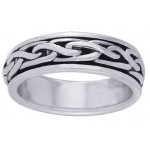 Celtic Knot Narrow Sterling Silver Fidget Spinner Ring at Jewelry Gem Shop,  Sterling Silver Jewerly | Gemstone Jewelry | Unique Jewelry