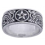 Pentacle Celtic Knot Sterling Silver Fidget Spinner Ring at Jewelry Gem Shop,  Sterling Silver Jewerly | Gemstone Jewelry | Unique Jewelry