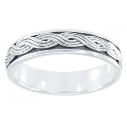 Twisted Rope Sterling Silver Fidget Spinner Ring at Jewelry Gem Shop,  Sterling Silver Jewerly | Gemstone Jewelry | Unique Jewelry