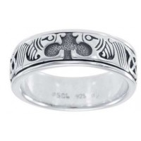 Celtic Animal Sterling Silver Fidget Spinner Ring