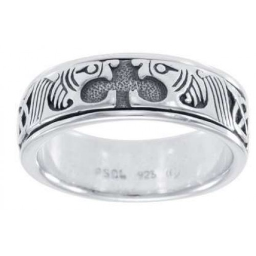 Celtic Animal Sterling Silver Fidget Spinner Ring at Jewelry Gem Shop,  Sterling Silver Jewerly | Gemstone Jewelry | Unique Jewelry