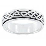 Celtic Knot Woven Sterling Silver Fidget Spinner Ring at Jewelry Gem Shop,  Sterling Silver Jewerly | Gemstone Jewelry | Unique Jewelry