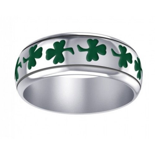 Celtic Green Shamrock Sterling Silver Fidget Spinner Ring at Jewelry Gem Shop,  Sterling Silver Jewerly | Gemstone Jewelry | Unique Jewelry