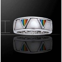 Rainbow Triangles Sterling Silver Fidget Spinner Ring Jewelry Gem Shop  Sterling Silver Jewerly | Gemstone Jewelry | Unique Jewelry