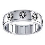 Om Symbol Sterling Silver Fidget Spinner Ring at Jewelry Gem Shop,  Sterling Silver Jewerly | Gemstone Jewelry | Unique Jewelry