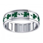 Celtic Shamrock Sterling Silver Fidget Spinner Ring at Jewelry Gem Shop,  Sterling Silver Jewerly | Gemstone Jewelry | Unique Jewelry
