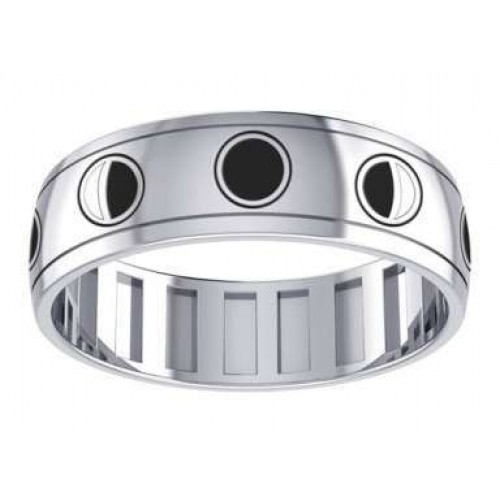 Phases of the Moon Sterling Silver Fidget Spinner Ring at Jewelry Gem Shop,  Sterling Silver Jewerly | Gemstone Jewelry | Unique Jewelry