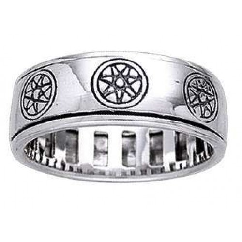 Elven Star Sterling Silver Fidget Spinner Ring at Jewelry Gem Shop,  Sterling Silver Jewerly | Gemstone Jewelry | Unique Jewelry
