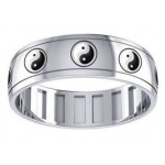 Ying Yang Sterling Silver Fidget Spinner Ring at Jewelry Gem Shop,  Sterling Silver Jewerly | Gemstone Jewelry | Unique Jewelry