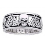 Skull Trinity Knot Sterling Silver Fidget Spinner Ring at Jewelry Gem Shop,  Sterling Silver Jewerly | Gemstone Jewelry | Unique Jewelry