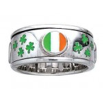 Irish Flag Shamrock Sterling Silver Fidget Spinner Ring at Jewelry Gem Shop,  Sterling Silver Jewerly | Gemstone Jewelry | Unique Jewelry