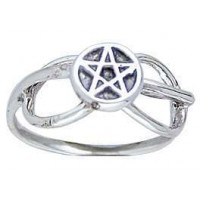 Pentacle Sterling Silver Open Loop Ring Jewelry Gem Shop  Sterling Silver Jewerly   Gemstone Jewelry   Unique Jewelry