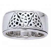 Triquetra Sterling Silver Fidget  Spinner Ring Jewelry Gem Shop  Sterling Silver Jewerly | Gemstone Jewelry | Unique Jewelry