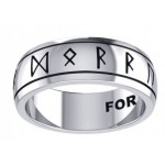 Odins Strength Runic Band Sterling Silver Fidget Spinner Ring at Jewelry Gem Shop,  Sterling Silver Jewerly | Gemstone Jewelry | Unique Jewelry