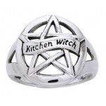 Kitchen Witch Pentacle Sterling Silver Ring at Jewelry Gem Shop,  Sterling Silver Jewerly   Gemstone Jewelry   Unique Jewelry